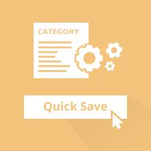 Quick Category Save pour Magento 2